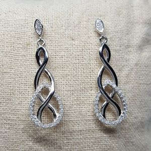Jewelry - Sterling Silver Infinity Dangle Earrings